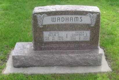 WADHAMS, GODFREY S. - Kearney County, Nebraska | GODFREY S. WADHAMS - Nebraska Gravestone Photos