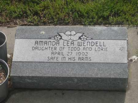 WENDELL, AMANDA LEA - Kearney County, Nebraska   AMANDA LEA WENDELL - Nebraska Gravestone Photos