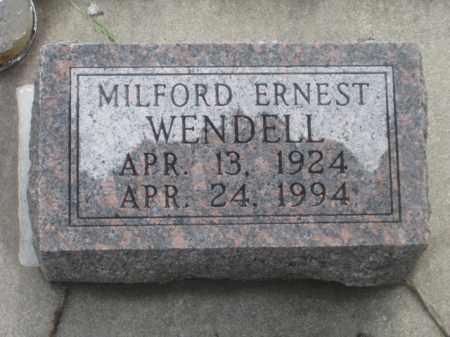 WENDELL, MILFORD ERNEST - Kearney County, Nebraska | MILFORD ERNEST WENDELL - Nebraska Gravestone Photos
