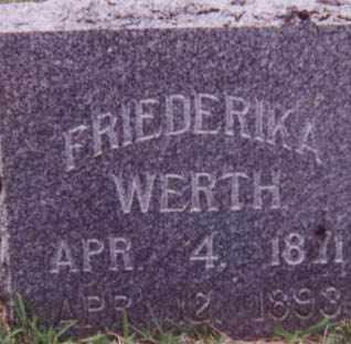 WICK WERTH, FRIEDERIKA - Kearney County, Nebraska | FRIEDERIKA WICK WERTH - Nebraska Gravestone Photos
