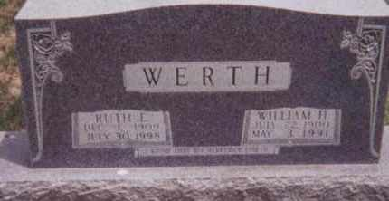 WERTH, RUTH E. - Kearney County, Nebraska | RUTH E. WERTH - Nebraska Gravestone Photos