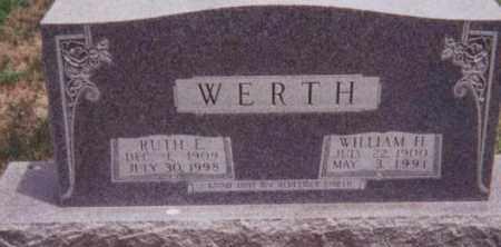 WERTH, WILLIAM H. - Kearney County, Nebraska | WILLIAM H. WERTH - Nebraska Gravestone Photos