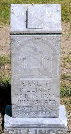 BILLINGS, EARL P. - Keya Paha County, Nebraska   EARL P. BILLINGS - Nebraska Gravestone Photos