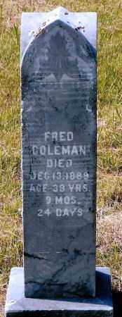 COLEMAN, FRED - Keya Paha County, Nebraska | FRED COLEMAN - Nebraska Gravestone Photos