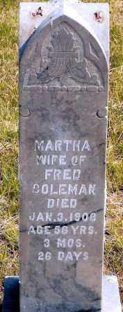 COLEMAN, MARTHA - Keya Paha County, Nebraska | MARTHA COLEMAN - Nebraska Gravestone Photos