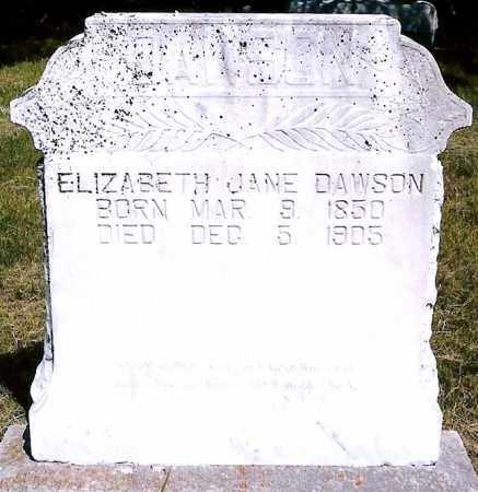 DAWSON, ELIZABETH JANE - Keya Paha County, Nebraska | ELIZABETH JANE DAWSON - Nebraska Gravestone Photos