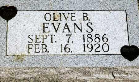 EVANS, OLIVE BLANCH - Keya Paha County, Nebraska   OLIVE BLANCH EVANS - Nebraska Gravestone Photos