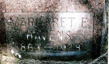 HAVENS, MARGARET E. - Keya Paha County, Nebraska   MARGARET E. HAVENS - Nebraska Gravestone Photos