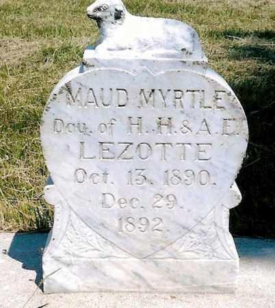 LEZOTTE, MAUD MYRTLE - Keya Paha County, Nebraska | MAUD MYRTLE LEZOTTE - Nebraska Gravestone Photos