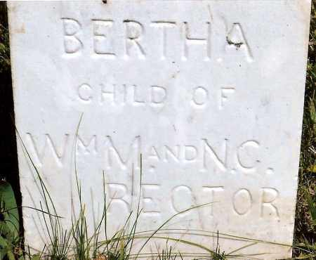 RECTOR, BERTHA - Keya Paha County, Nebraska | BERTHA RECTOR - Nebraska Gravestone Photos