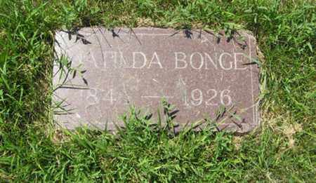 BONGE, MATILDA - Knox County, Nebraska | MATILDA BONGE - Nebraska Gravestone Photos