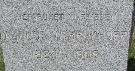 BROKHOFF, AUGUST W. (CLOSE UP) - Knox County, Nebraska | AUGUST W. (CLOSE UP) BROKHOFF - Nebraska Gravestone Photos