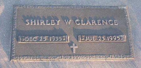 CLARENCE, SHIRLEY W. - Knox County, Nebraska | SHIRLEY W. CLARENCE - Nebraska Gravestone Photos