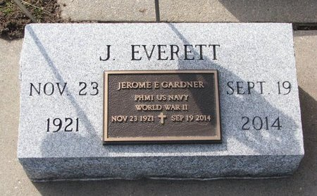 GARDNER, JEROME EVERETT - Knox County, Nebraska | JEROME EVERETT GARDNER - Nebraska Gravestone Photos