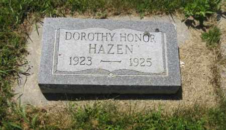 HAZEN, DOROTHY HONOR - Knox County, Nebraska | DOROTHY HONOR HAZEN - Nebraska Gravestone Photos