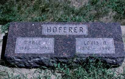 HOFERER, LOUIS A. - Knox County, Nebraska | LOUIS A. HOFERER - Nebraska Gravestone Photos
