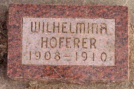 HOFERER, WILHELMINA - Knox County, Nebraska | WILHELMINA HOFERER - Nebraska Gravestone Photos