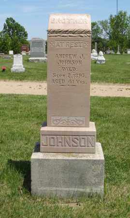 JOHNSON, ANDREW J. - Knox County, Nebraska   ANDREW J. JOHNSON - Nebraska Gravestone Photos