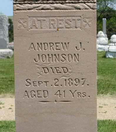JOHNSON, ANDREW J. (CLOSEUP) - Knox County, Nebraska | ANDREW J. (CLOSEUP) JOHNSON - Nebraska Gravestone Photos