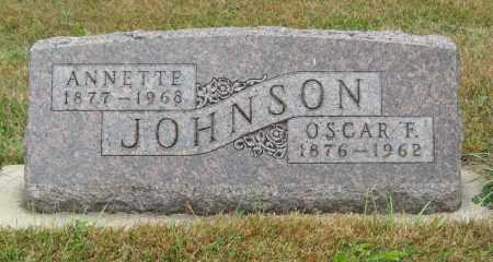 JOHNSON, OSCAR F. - Knox County, Nebraska   OSCAR F. JOHNSON - Nebraska Gravestone Photos