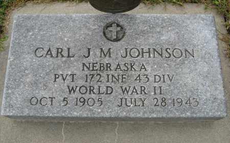JOHNSON, CARL J. M. (MILITARY MARKER) - Knox County, Nebraska   CARL J. M. (MILITARY MARKER) JOHNSON - Nebraska Gravestone Photos