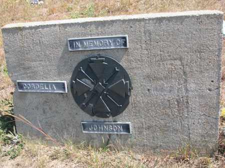 JOHNSON, CORDELIA - Knox County, Nebraska | CORDELIA JOHNSON - Nebraska Gravestone Photos
