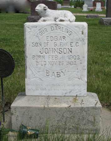 JOHNSON, EDGAR - Knox County, Nebraska | EDGAR JOHNSON - Nebraska Gravestone Photos