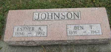 JOHNSON, BEN T. - Knox County, Nebraska | BEN T. JOHNSON - Nebraska Gravestone Photos