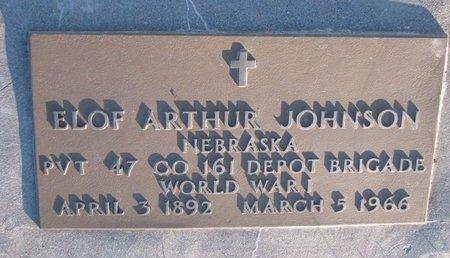 JOHNSON, ELOF ARTHUR - Knox County, Nebraska | ELOF ARTHUR JOHNSON - Nebraska Gravestone Photos