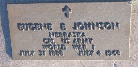 JOHNSON, EUGENE E. - Knox County, Nebraska | EUGENE E. JOHNSON - Nebraska Gravestone Photos