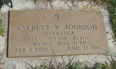 JOHNSON, EVERETT V. - Knox County, Nebraska | EVERETT V. JOHNSON - Nebraska Gravestone Photos
