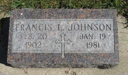 JOHNSON, FRANCIS L. - Knox County, Nebraska | FRANCIS L. JOHNSON - Nebraska Gravestone Photos