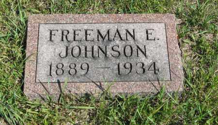JOHNSON, FREEMAN E. - Knox County, Nebraska | FREEMAN E. JOHNSON - Nebraska Gravestone Photos