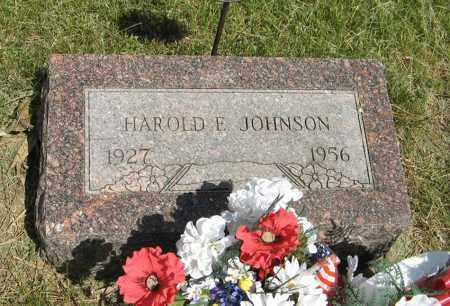 JOHNSON, HAROLD E. - Knox County, Nebraska   HAROLD E. JOHNSON - Nebraska Gravestone Photos