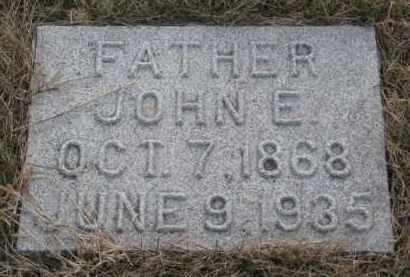 JOHNSON, JOHN E. - Knox County, Nebraska   JOHN E. JOHNSON - Nebraska Gravestone Photos
