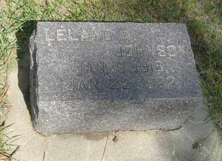 JOHNSON, LELAND A. - Knox County, Nebraska | LELAND A. JOHNSON - Nebraska Gravestone Photos