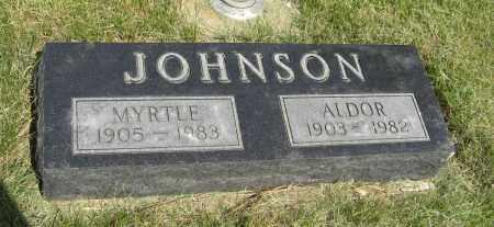 JOHNSON, ALDOR - Knox County, Nebraska | ALDOR JOHNSON - Nebraska Gravestone Photos