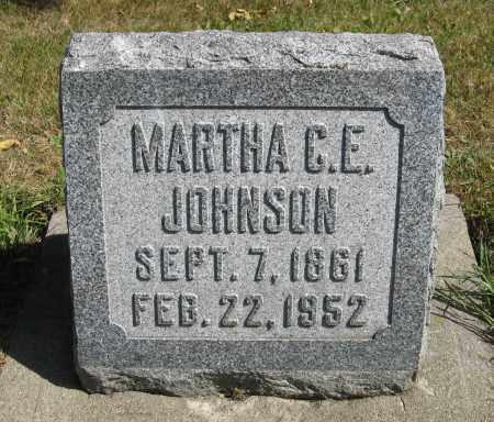 JOHNSON, MARTHA C. E. - Knox County, Nebraska | MARTHA C. E. JOHNSON - Nebraska Gravestone Photos