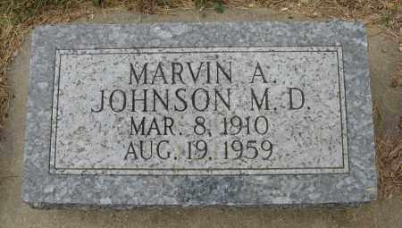 JOHNSON, MARVIN A. (M. D.) - Knox County, Nebraska   MARVIN A. (M. D.) JOHNSON - Nebraska Gravestone Photos