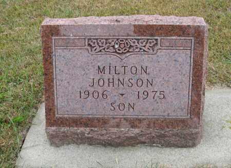 JOHNSON, MILTON - Knox County, Nebraska | MILTON JOHNSON - Nebraska Gravestone Photos