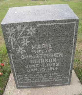 JOHNSON, MARIE - Knox County, Nebraska   MARIE JOHNSON - Nebraska Gravestone Photos