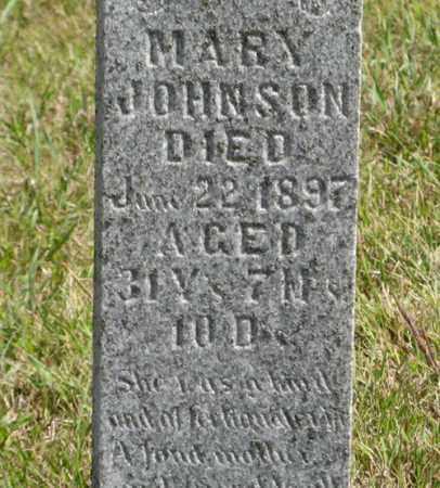 JOHNSON, MARY (CLOSEUP) - Knox County, Nebraska   MARY (CLOSEUP) JOHNSON - Nebraska Gravestone Photos