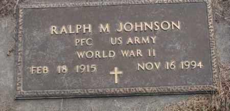 JOHNSON, RALPH M. (WW II) - Knox County, Nebraska | RALPH M. (WW II) JOHNSON - Nebraska Gravestone Photos