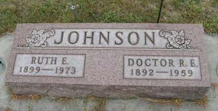 JOHNSON, R. E. DR. - Knox County, Nebraska   R. E. DR. JOHNSON - Nebraska Gravestone Photos