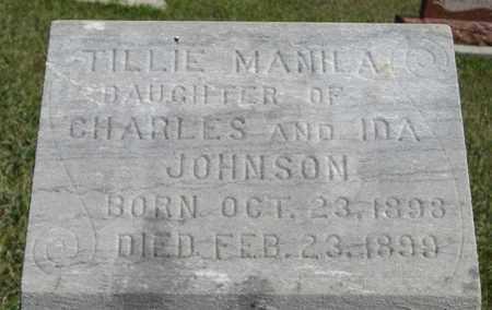 JOHNSON, TILLIE (CLOSEUP) - Knox County, Nebraska   TILLIE (CLOSEUP) JOHNSON - Nebraska Gravestone Photos