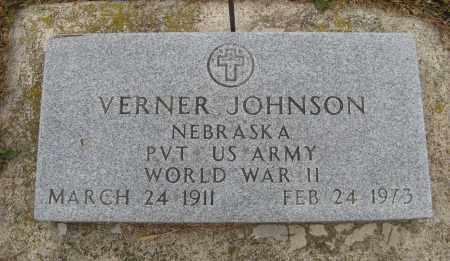 JOHNSON, VERNER (MILITARY MARKER) - Knox County, Nebraska   VERNER (MILITARY MARKER) JOHNSON - Nebraska Gravestone Photos
