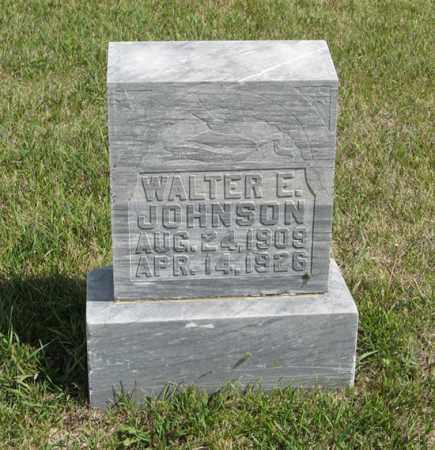 JOHNSON, WALTER E. - Knox County, Nebraska   WALTER E. JOHNSON - Nebraska Gravestone Photos