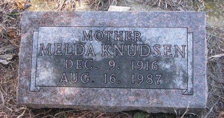 KNUDSEN, MELDA - Knox County, Nebraska   MELDA KNUDSEN - Nebraska Gravestone Photos