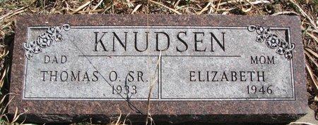 KNUDSEN, ELIZABETH - Knox County, Nebraska | ELIZABETH KNUDSEN - Nebraska Gravestone Photos