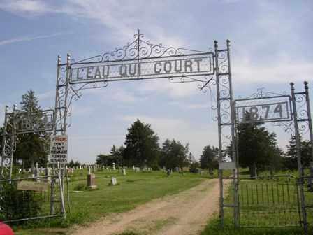 *L'EAU QUI COURT CEMETERY, ENTRANCE - Knox County, Nebraska   ENTRANCE *L'EAU QUI COURT CEMETERY - Nebraska Gravestone Photos